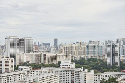 The skyline from Mount Faber in Singapore, on Monday, Nov. 23, 2020. Singapore said its economy will probably expand 4% to 6% next year amid a global recovery from the worst of the coronavirus pandemic and as travel restrictions and local safety measures are eased. Photographer: Lauryn Ishak/Bloomberg