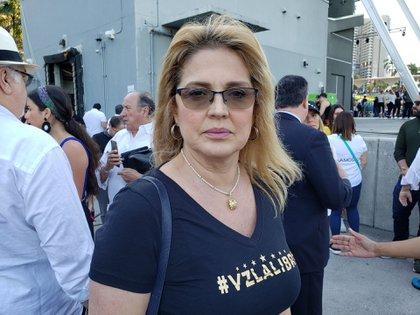 Belén Marrero, hermana de Roberto Marrero, el jefe despacho de Guaidó detenido por el régimen de Maduro (Opy Morales)