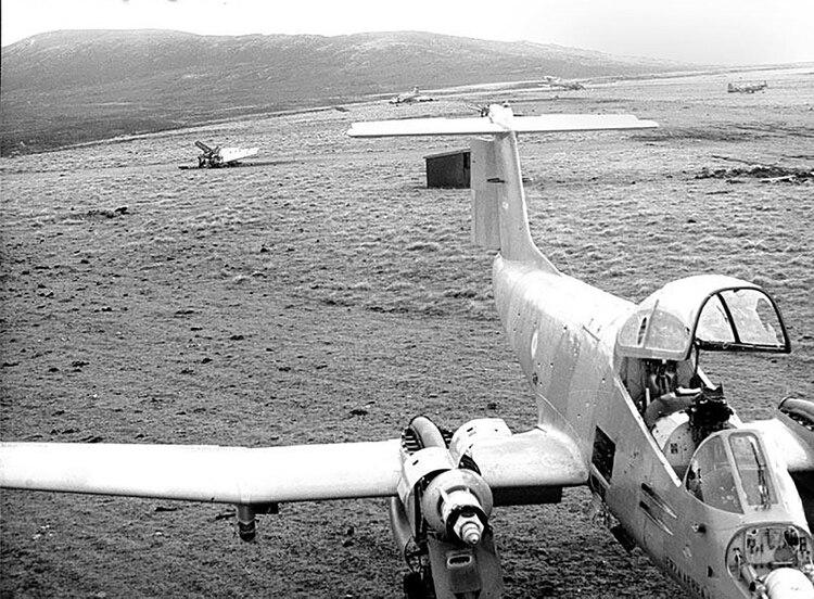 Los Pucará en las islas Malvinas