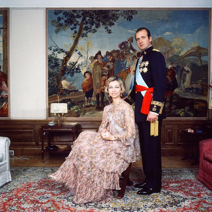 Juan Carlos y Sofía en el Palacio de la Zarzuela (Shutterstock)