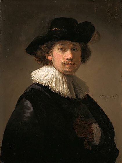 Autorretrato de Rembrandt  (Photo by STRINGER / SOTHEBY'S / AFP)