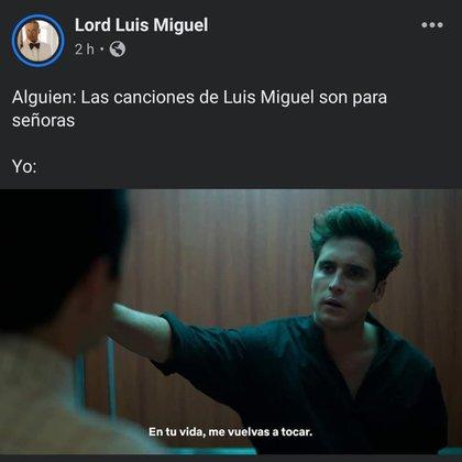 """(Foto: tomada de Facebook """"Lord Luis Miguel"""")."""