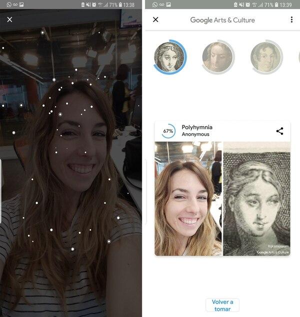 Así es el proceso de la app Art Selfie