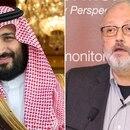 Mohammed Bin Salman y Jamal Khashoggi.
