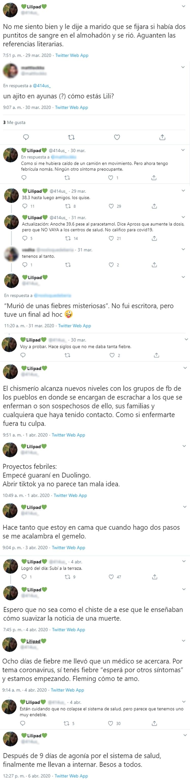 La docente en Literatura relató su suplicio en su cuenta de Twitter