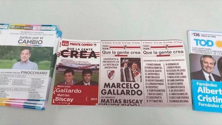 La boleta de Marcelo Gallardo precandidato a presidente que se volvió viral en la celebración de las PASO en Argentina(@odioso_mal)