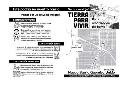 Las organizaciones de izquierda que participan de la toma ya elaboraron un proyecto de edificación por si consiguen la cesión del 10% de las tierras proyectadas para construir un barrio cerrado. Axel Kicillof ya desestimó esa propuesta