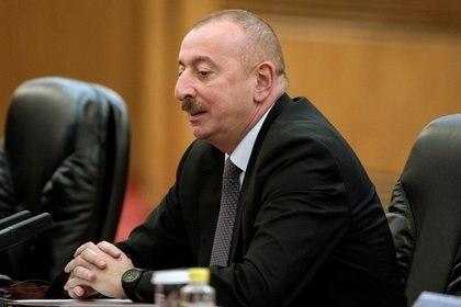 El presidente de Azeribaiyan, Ilham Aliyev (Fred Dufour/Pool via REUTERS)
