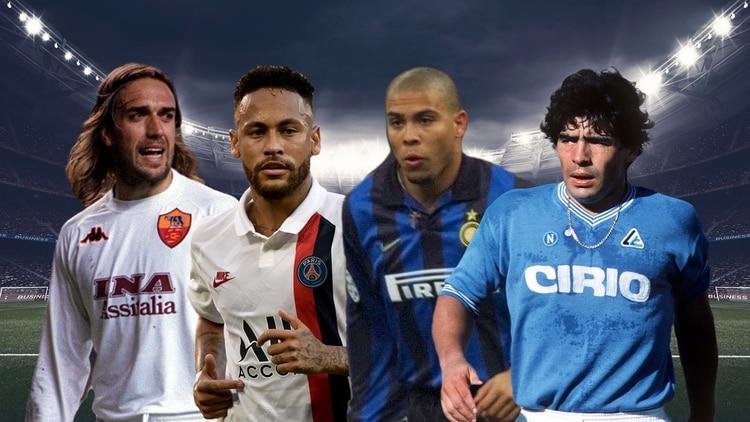 Batistuta, Ronaldo y Maradona costaron más que Neymar