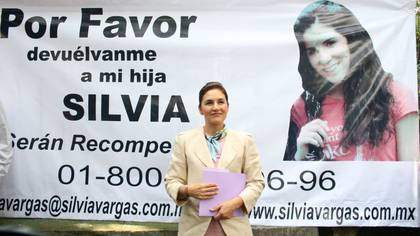 Silvia Escalera, madre de Silvia Vargas, y su esposo organizaron campañas para localizar a su hija (Foto: Ricardo Castelan/ Cuartoscuro)