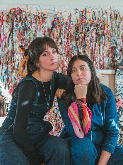 Nathalie Leloutre y Fiorella Gianini, las creadoras de Fioresha, el emprendimiento de dos argentinas que se exhibirá en Covent Garden (Foto: Juan Brito)