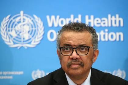 El director general de la OMS, Tedros Adhanom Ghebreyesus, durante una conferencia de prensa sobre el coronavirus en Ginebra, Suiza, el 24 de febrero de 2020. REUTERS/Denis Balibouse