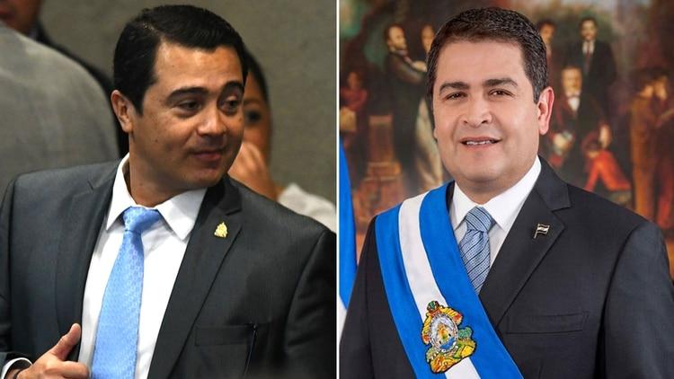 El ex diputado hondureño Juan Antonio Hernández y su hermano, el presidente Juan Orlando Hernández