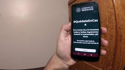Aplicación COVID-19MX de la Ssa (Foto: Infobae)
