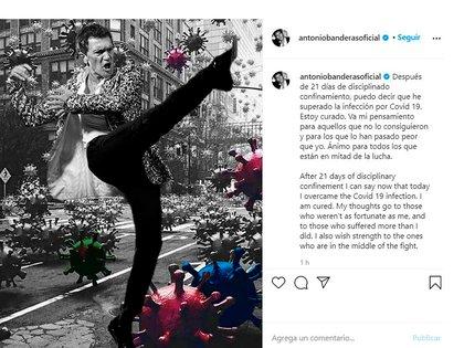 La publicación de Antonio Banderas (instagram: antoniobanderasoficial)