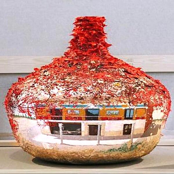 Vasija de 16 litros que saldrá a subasta en enero con un valor de 340 mil euros. Fue diseñada por el artista español Alberto Rodríguez Serrano