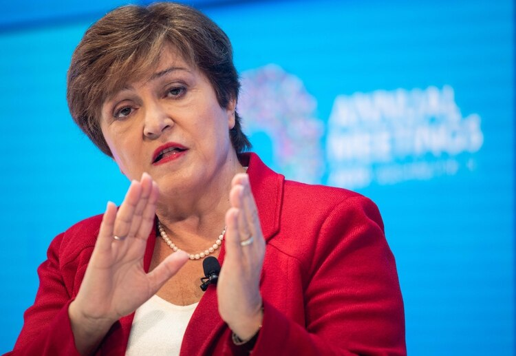 Kristalina Georgieva, directora gerente del FMI (NICHOLAS KAMM / AFP)