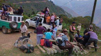 Desplazados en Peque, Antioquia. / Twitter