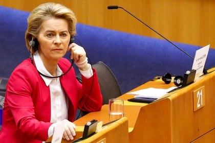 La presidente de la Comisión Europea, Ursula von der Leyen (Reuters/ Francois Lenoir)