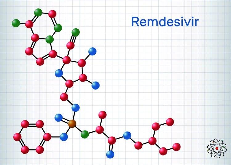 Estructura del remdesivir (Shutterstock)