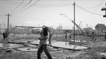La escena del Hombre Bala en Ciudad Nezahualcóyotl (Foto: Captura de pantalla)