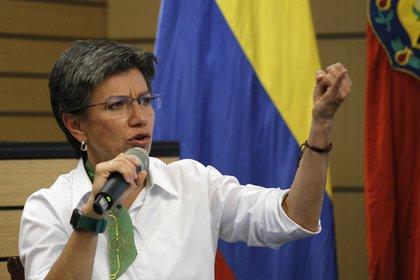 En la imagen, la alcaldesa de Bogotá, Claudia López. EFE/Juan Páez/Archivo