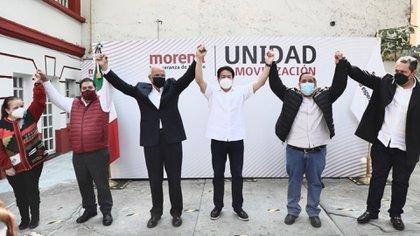 Delgado y Navarro llamaron a la unidad del partido para poder triunfar en las elecciones del 2021 (Foto: Cortesía Morena)