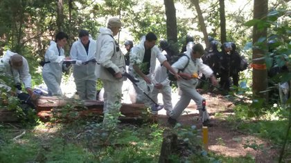 La inspección en el lugar del hecho en busca de armas de mapuchesdio negativo