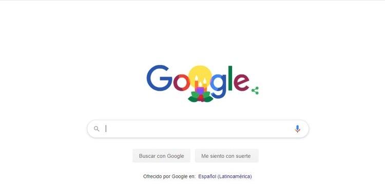 El doodle de Google que se publicó hoy.
