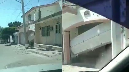 """El domicilio donde supuestamente fue levantado """"El Chino Ántrax"""", su hermana y cuñado (Foto: Captura de pantalla)"""