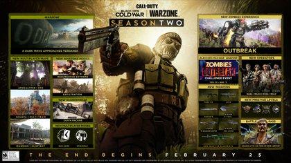 La imagen oficial donde Activision y Treyarch detallan el contenido de la segunda temporada.