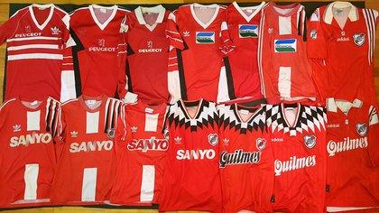 Algunas suplentes rojas usadas del 89 al 97