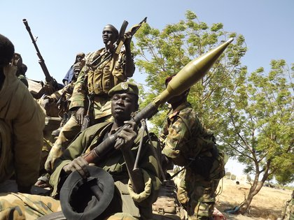 08/26/2020 Soldiers from the South Sudan People's Liberation Army.  SOUTHERN SUDAN AFRICA INTERNATIONAL POLICY SAMIR BOL / ZUMA PRESS / CONTACTOPHOTO