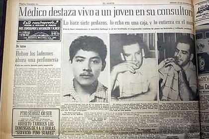 Los diarios destacaron el crimen de Alfredo Ballí, cometido en octubre de 1959.