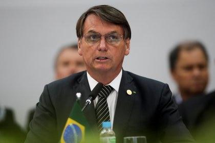 Brazil's President Jair Bolsonaro attends a Mercosur trade bloc summit, in Bento Goncalves, Brazil December 5, 2019. REUTERS/Ueslei Marcelino