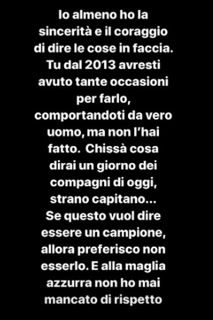 El durísimo descargo en el Instagram de Mario Balotelli tras conocer los dichos de Chiellini