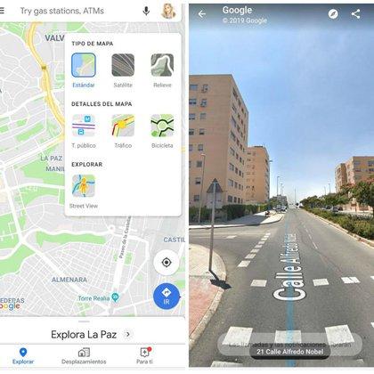 Así se verá la pantalla dividida de Google Maps con Street View (Cnet)