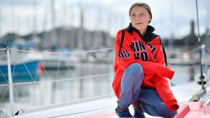 Greta Thunberg se convirtió en la máxima referente del cambio climático mundial (AFP)