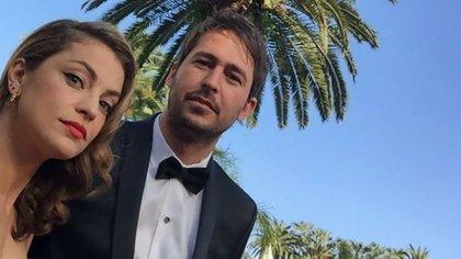 Junto a Santiago Mitre, su pareja y director de La Cordillera