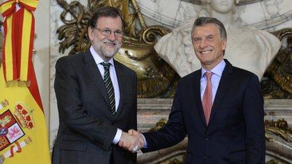 Macri y el presidente de España Mariano Rajoy