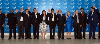 Los presidentes, en una de las primeras cumbres
