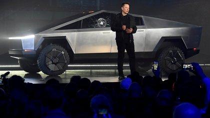 Elon Musk durante la presentación el año pasado de su Tesla Cybertruck.