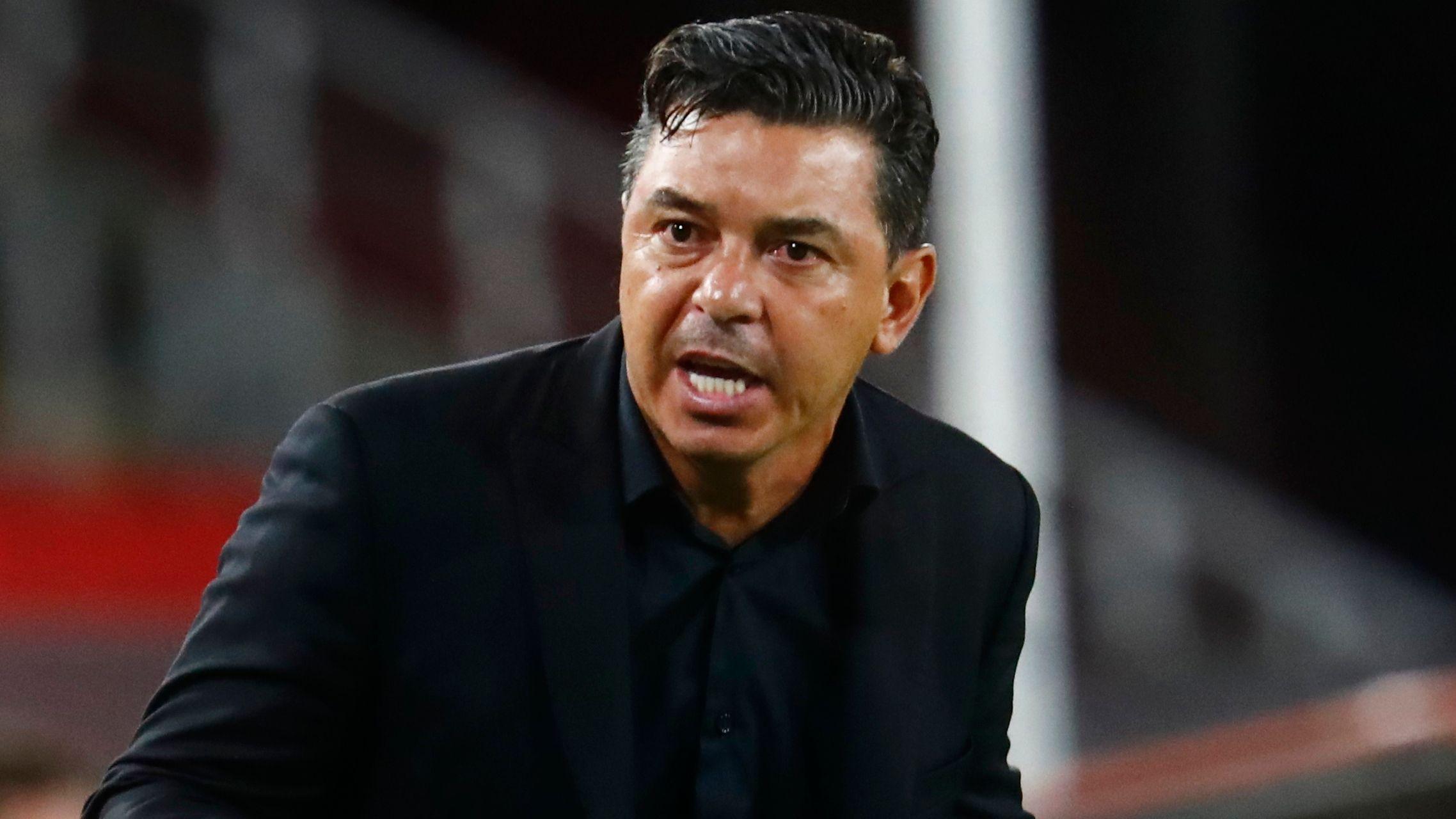 Marcelo Gallardo recibió una fecha de suspensión (REUTERS/Marcos Brindicci)
