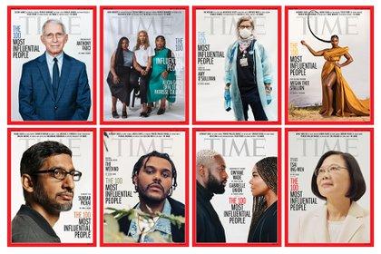 Las portadas diseñadas por Time para el ranking