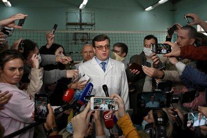 Alexandr Mujarovski, director del Hospital de Urgencias Nº 1 de la ciudad siberiana de Omsk (REUTERS/Alexey Malgavko)
