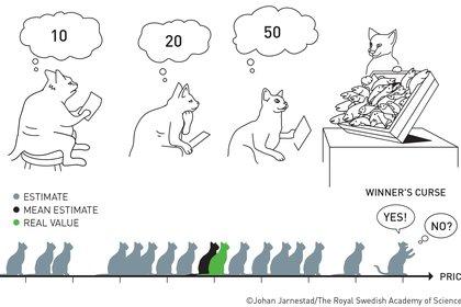 Ilustración de los Nobel sobre estimaciones, pujas y cálculos de los ofertantes en las subastas