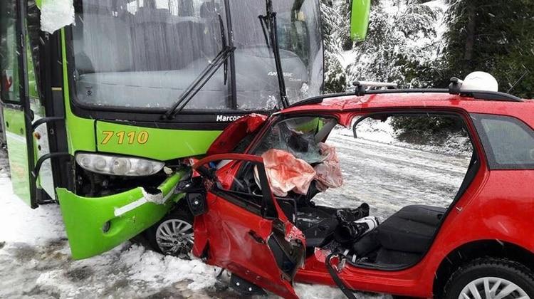 Así quedó el auto que conducía Giallombardo tras el accidente