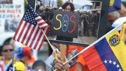 Una manifestación de venezolanos exiliados en Estados Unidos (Archivo)
