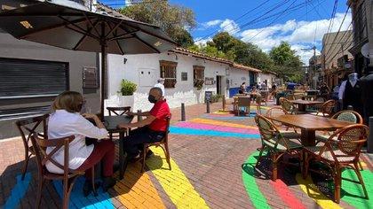 Restaurantes durante el piloto 'Bogotá A Ciolo Aberdeo'.  Foto: Ministerio de Desarrollo Económico.