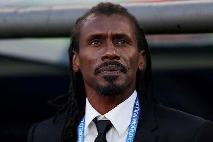 Aliou Cisse, entrenador de Senegal, fue el único DT africano del Mundial (Reuters)